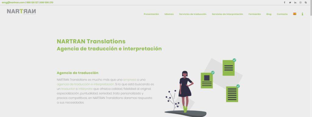 Página principal de Nartran Translations